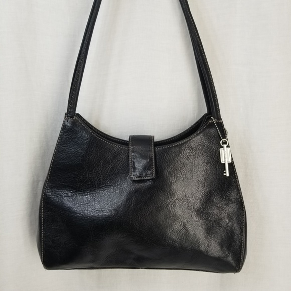 Fossil Handbags - Fossil Structured Black Leather Purse NWOT